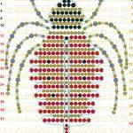 Фото 43: Схема паука из бисера