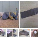 Фото 61: Изготовление собачки из носков