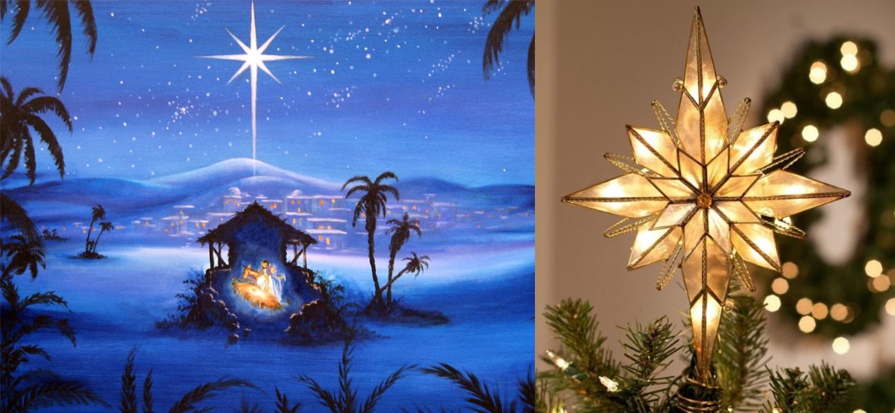 Украшение елки Вифлеемской звездой