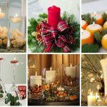 Украшение новогодних свечей