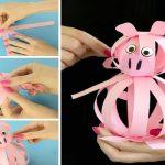 Фото 43: Свинка из бумаги на елку