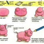 Фото 63: Изготовление свинки из соленого теста