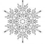 Фото 58: Трафарет снежинки 1