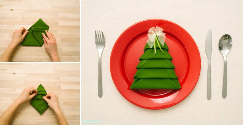 Украшение в виде елочки для новогоднего праздника