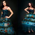 Фото 67: Украшение платья мишурой и игрушками
