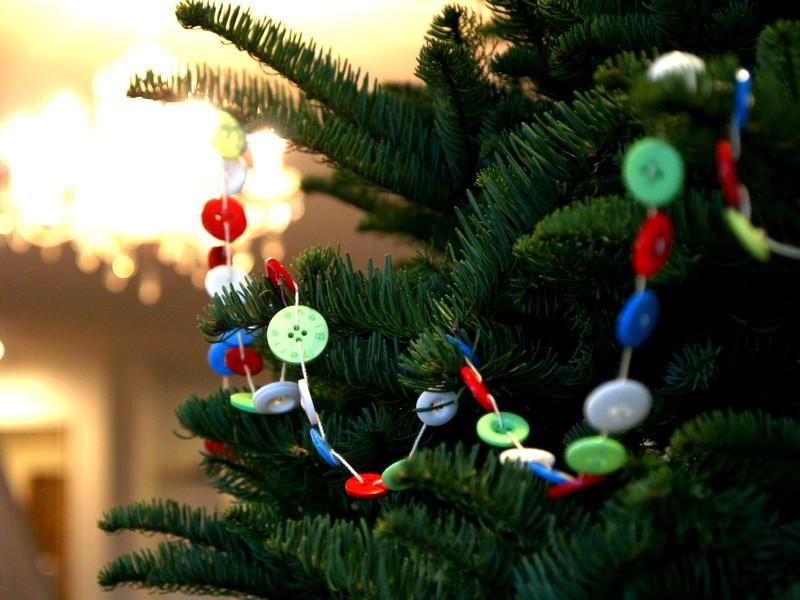 украшения из пуговиц на елку