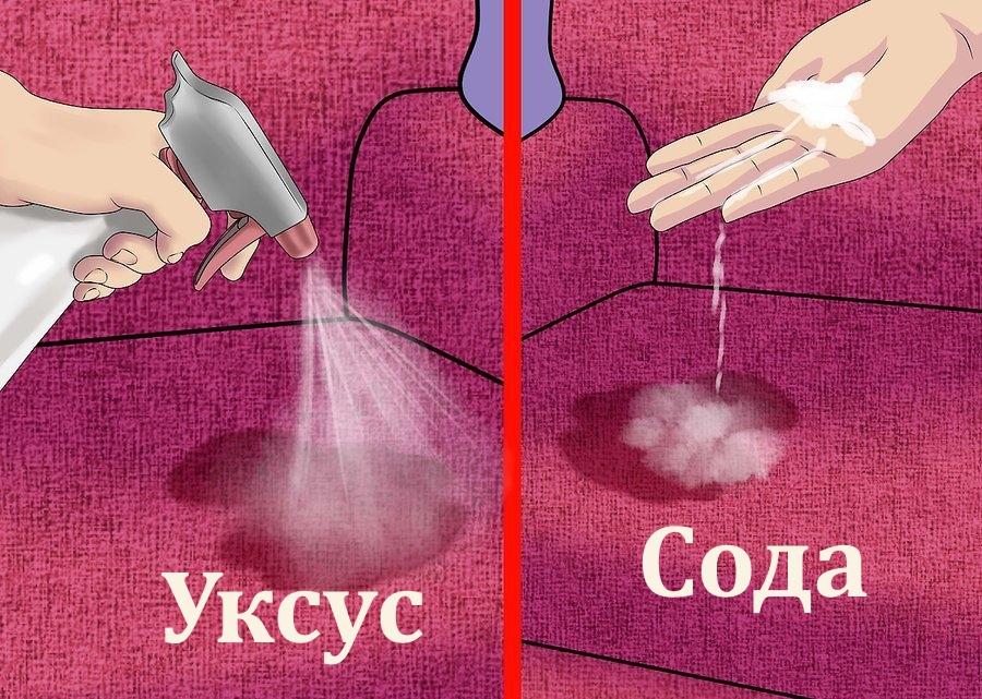 Укус и сода для борьбы с пятнами