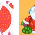 Фото 24: Выкройка для распечатки Деда Мороза из бумаги