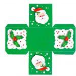 Фото 27: Выкройка для распечатки новогодней коробочки из бумаги