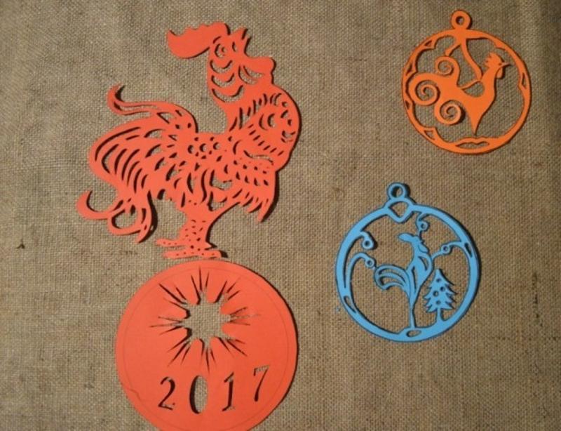 Как сделать новогодний символ 2017 года своими руками