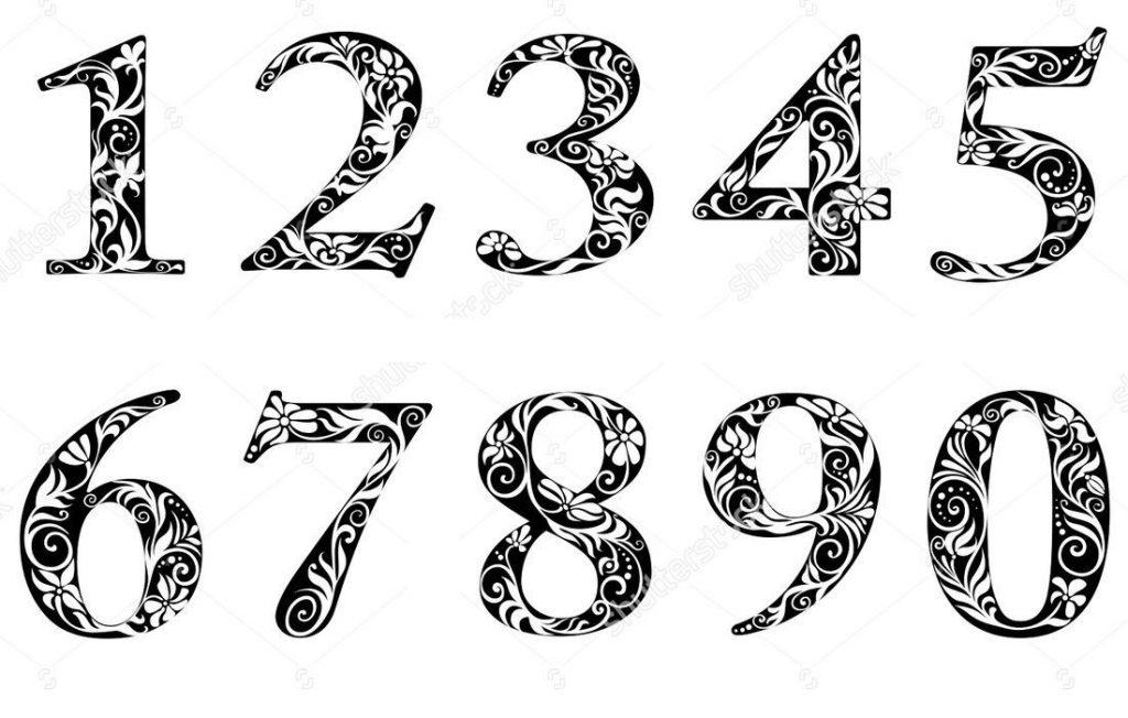 Ажурные трафареты цифр