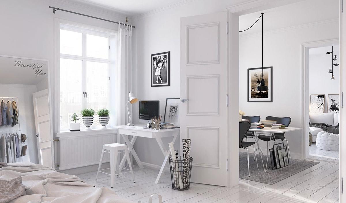 дверь в квартире скандинавского стиля