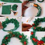 Фото 40: Новогодний веночек из гофрированной бумаги