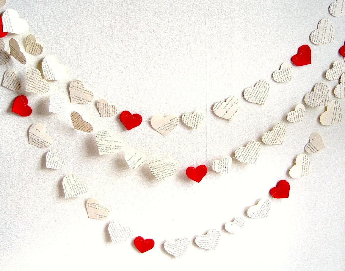 Сделать гирлянду из сердечек своими руками фото 963