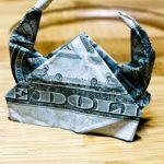 Фото 24: Шлем викинга в технике оригами из доллара