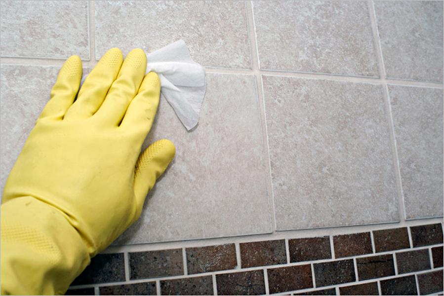 Загрязнения на плитке