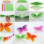 Фото 19: Бабочка из цветной бумаги