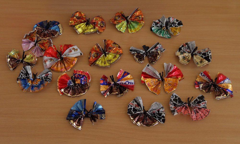 Бабочки из разных материалов своими руками 15