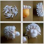 Фото 41: Барашек из киндер яйца и ватных палочек