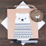 Фото 78: Новогодняя открытка с белым медведем