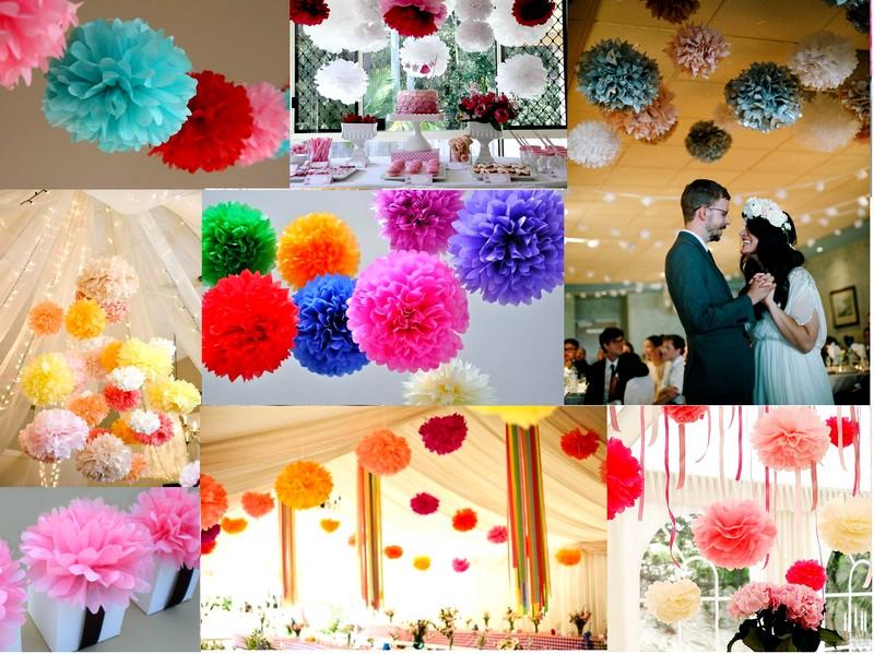 Оформление зала бумажными цветами своими руками 301