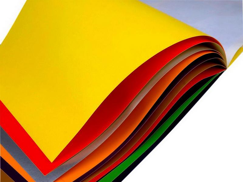Цветная бумага для осенних вытынанок