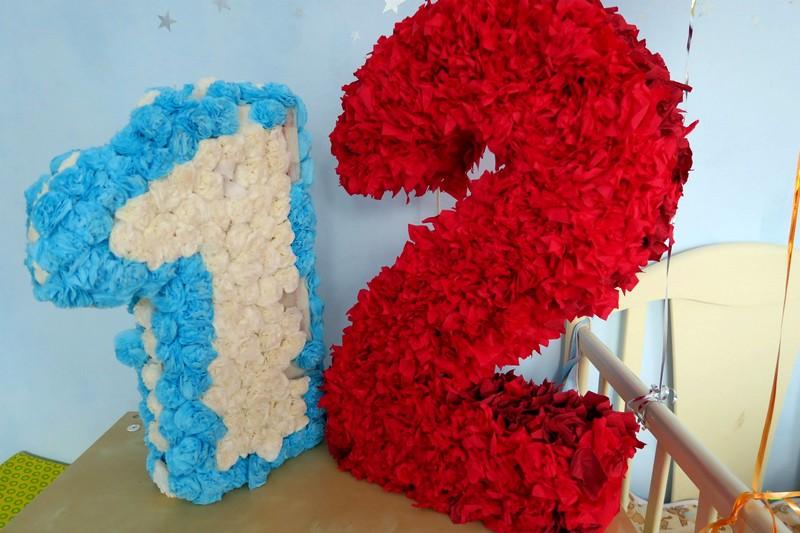Как сделать цветы для цифры 171