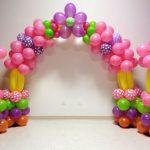 Фото 20: Цветочная арка из шариков