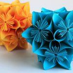 Цветочные модульные шары в технике оригами