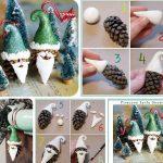 Фото 50: Изготовление Деда Мороза из шишек