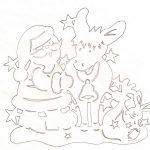 Фото 26: Шаблон Деда Мороза с оленем
