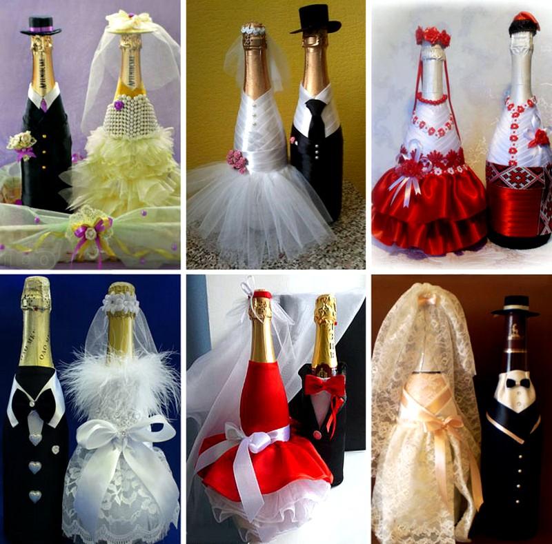 Как украсить бутылку шампанского своими руками фото 56