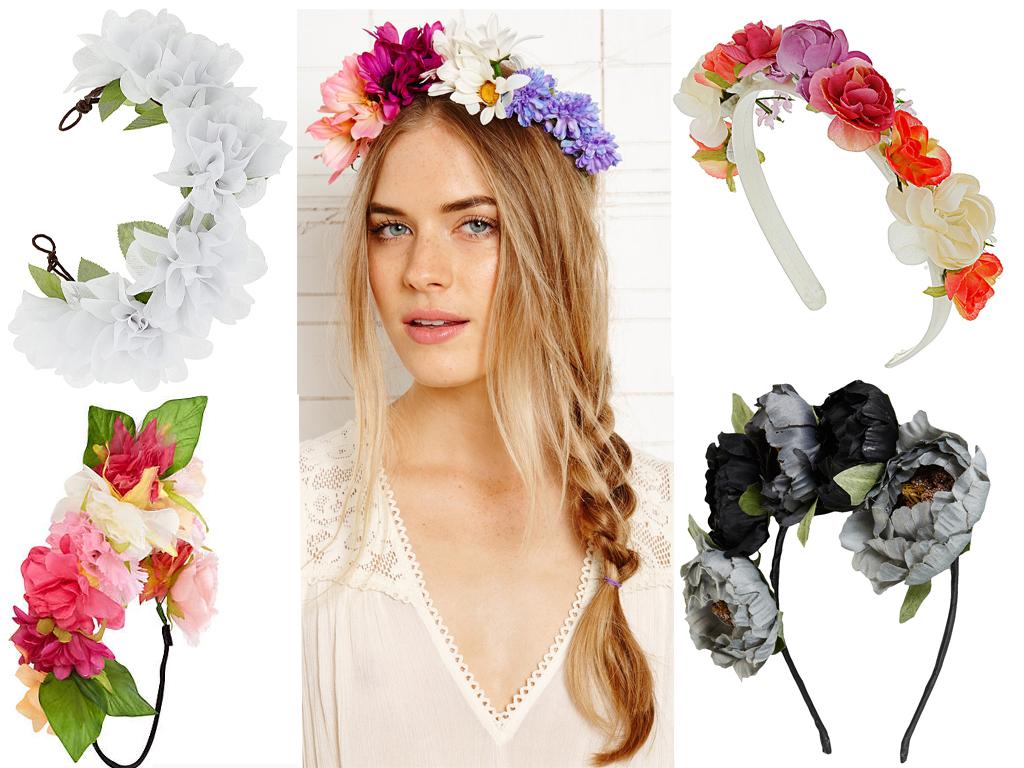 Декорирование ободка цветами