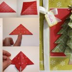 Фото 60: Новогодняя открытка с объемной елочкой