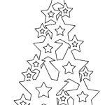 Фото 28: Шаблон ёлочки из звезд