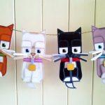 Фото 14: Гирлянда в виде кошек из бумаги
