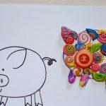 Фото 96: Свинка из пуговиц и пластилина