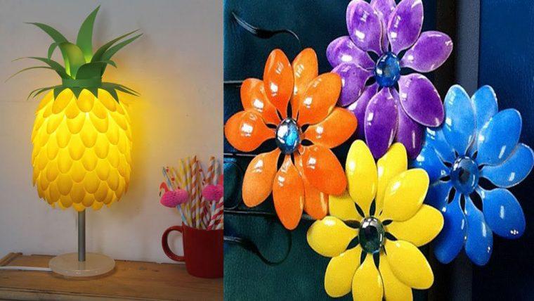Поделки цветы из пластиковых ложек