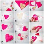 Фото 26: Изготовление сердечек из фетра