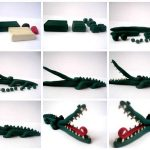 Фото 19: Крокодил из пластилина