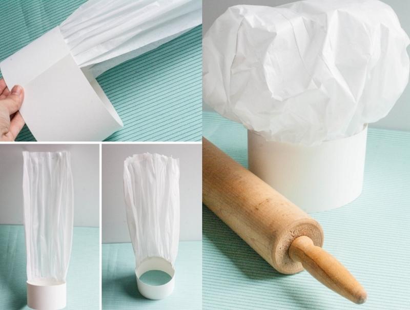 Кулинарный колпак из бумаги