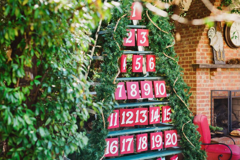 Новогодний календарь из бумаги привлечет взгляды окружающих