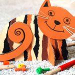 Фото 27: Котик из цветного картона