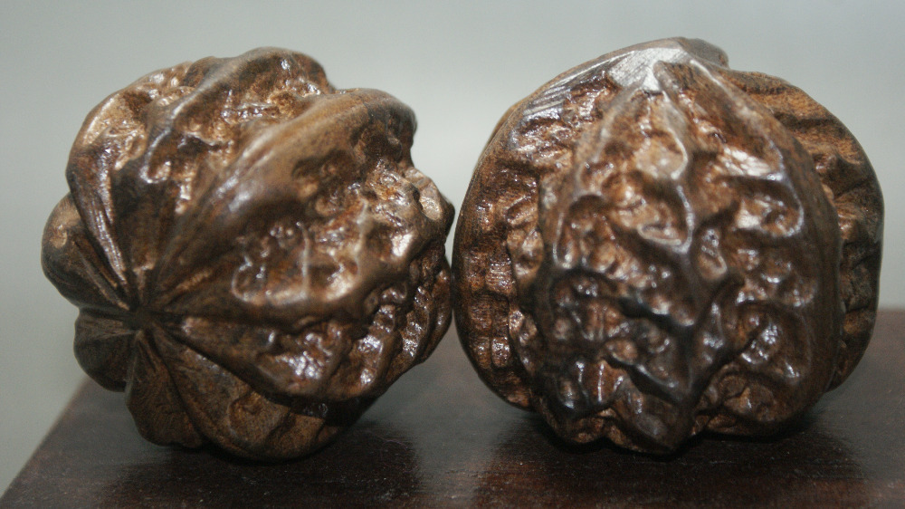 Кулон из грецкого ореха выглядит оригинально
