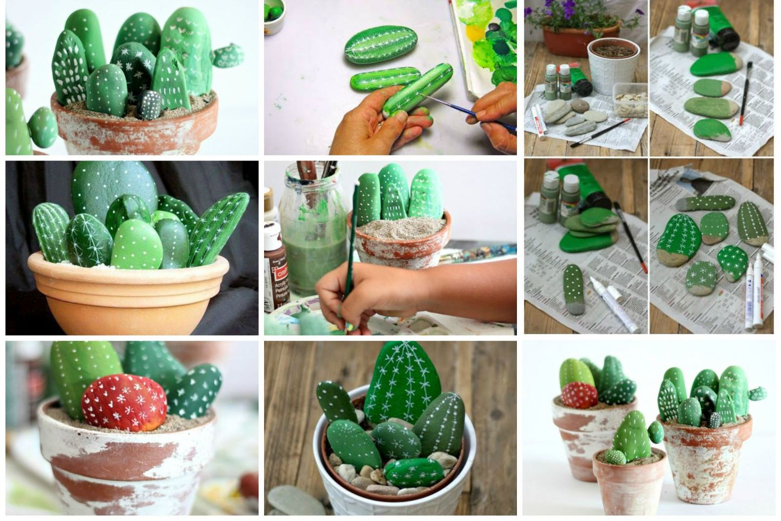 Декоративный кактус своими руками