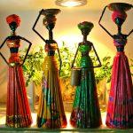 Фото 29: Африканские фигурки из газетных трубочек