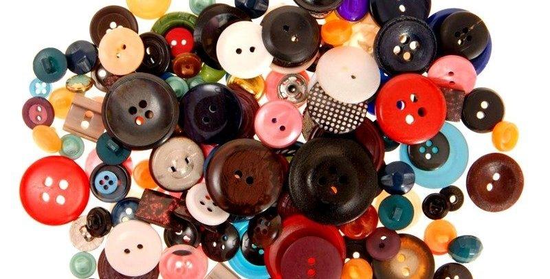 Разнообразные пуговицы для открыток