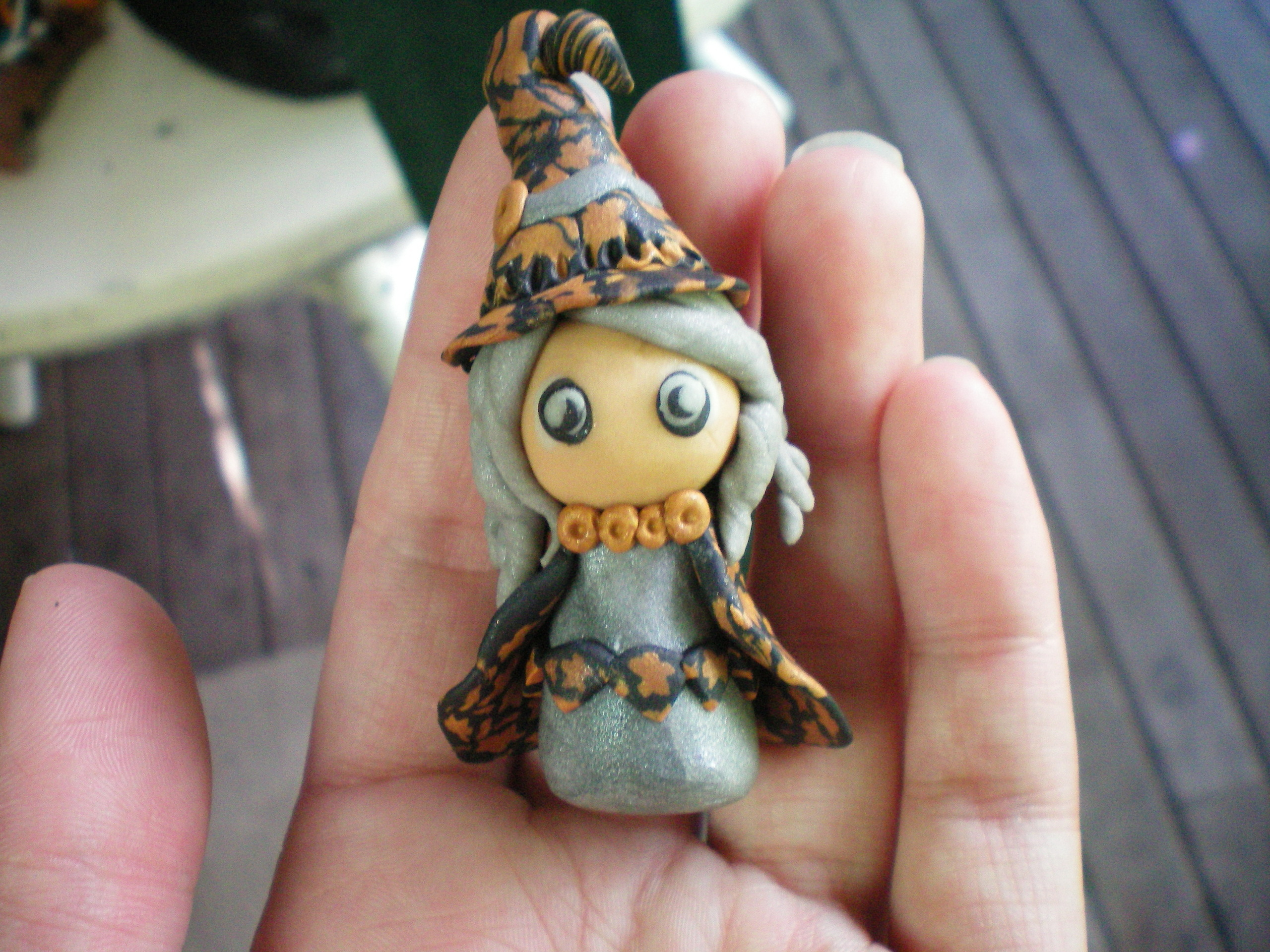 Ведьма из полимерной глины