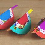 Фото 34: Птички из цветной бумаги