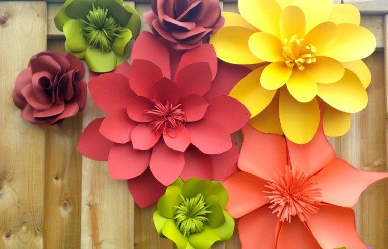 Бумажные цветы своими руками на стену и 66